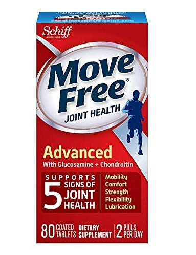 $15.27 Move Free Joint Health Advanced with Glucosamine and Chondroitin and Hyaluronic Acid Joint Supplement, 80 tablets