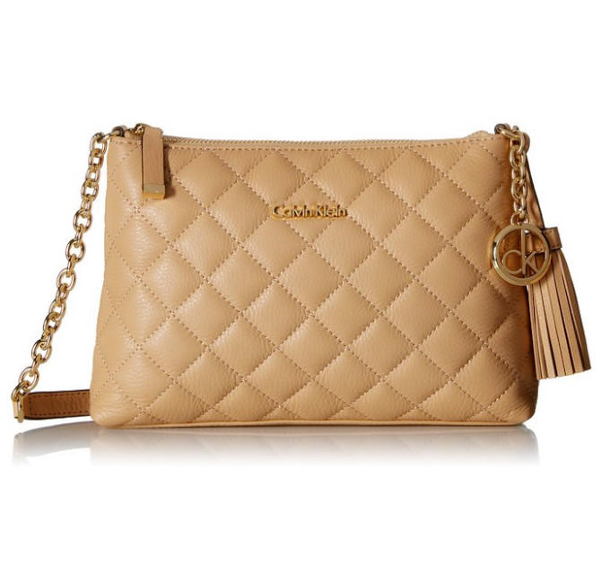 $104.92 Calvin Klein Leather Quilted Cross Body Bag