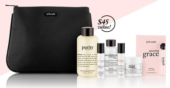 Free 6 Minis With Any $45 Order @ philosophy