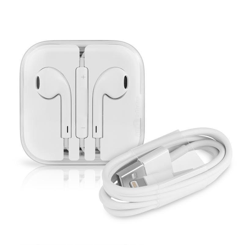 $15.95 Apple  USB Cable + Apple EarPods w Remote and Mic