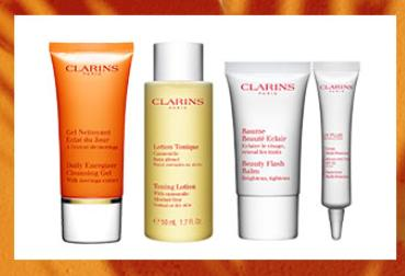 Free 4-Piece Instant Energizer Gift  Gift Sets With Any Orders over $50 @ Clarins