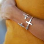 Sterling Silver Flashed Cross Catch with