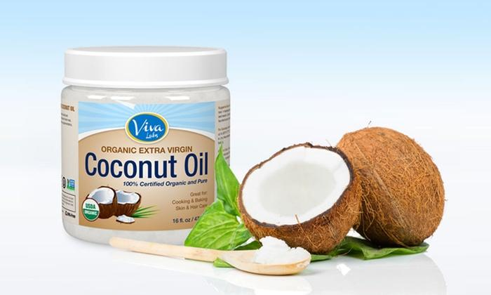 #1 Best seller! $9.17 Viva Labs The Finest Organic Extra Virgin Coconut Oil, 16 Ounce