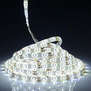 $7.99 ANNT 5m SMD 82 Lumens / 1.5 Watts Per Foot, 300 Units 3528 Leds Waterproof LED Strip Light (5m, Cool White)