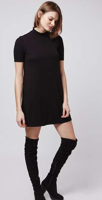 Half-Sleeve Flippy Tunic Dress @ TopShop