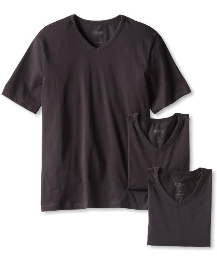 From $21.40 BOSS HUGO BOSS Men's 3-Pack Cotton V-Neck T-Shirt