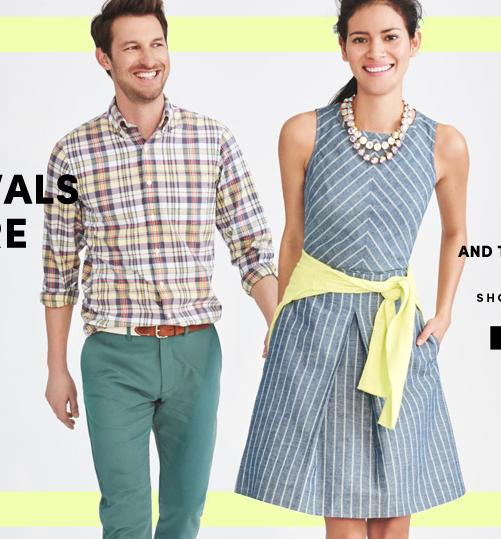 40% off + Free Shipping New Arrivals Items @ J.Crew Factory