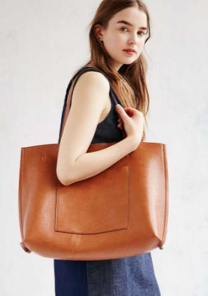 $31.98 Street Level Faux Leather Pocket Tote On Sale @ Nordstrom
