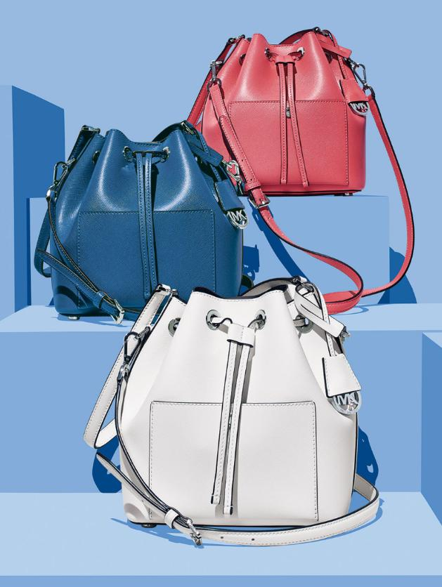 MICHAEL MICHAEL KORS  Greenwich Small Saffiano Leather Bucket Bag Sale @ Michael Kors