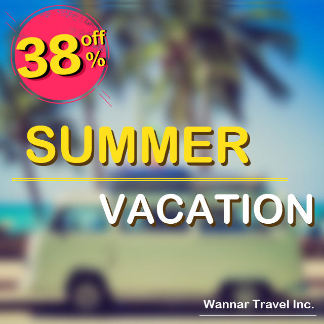 Save up to 38%on awesome summer deals @ Wannar!