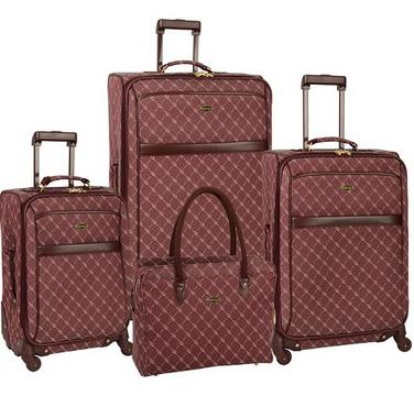 $116.66 Travel Gear Orion 4 Piece Spinner Luggage Set