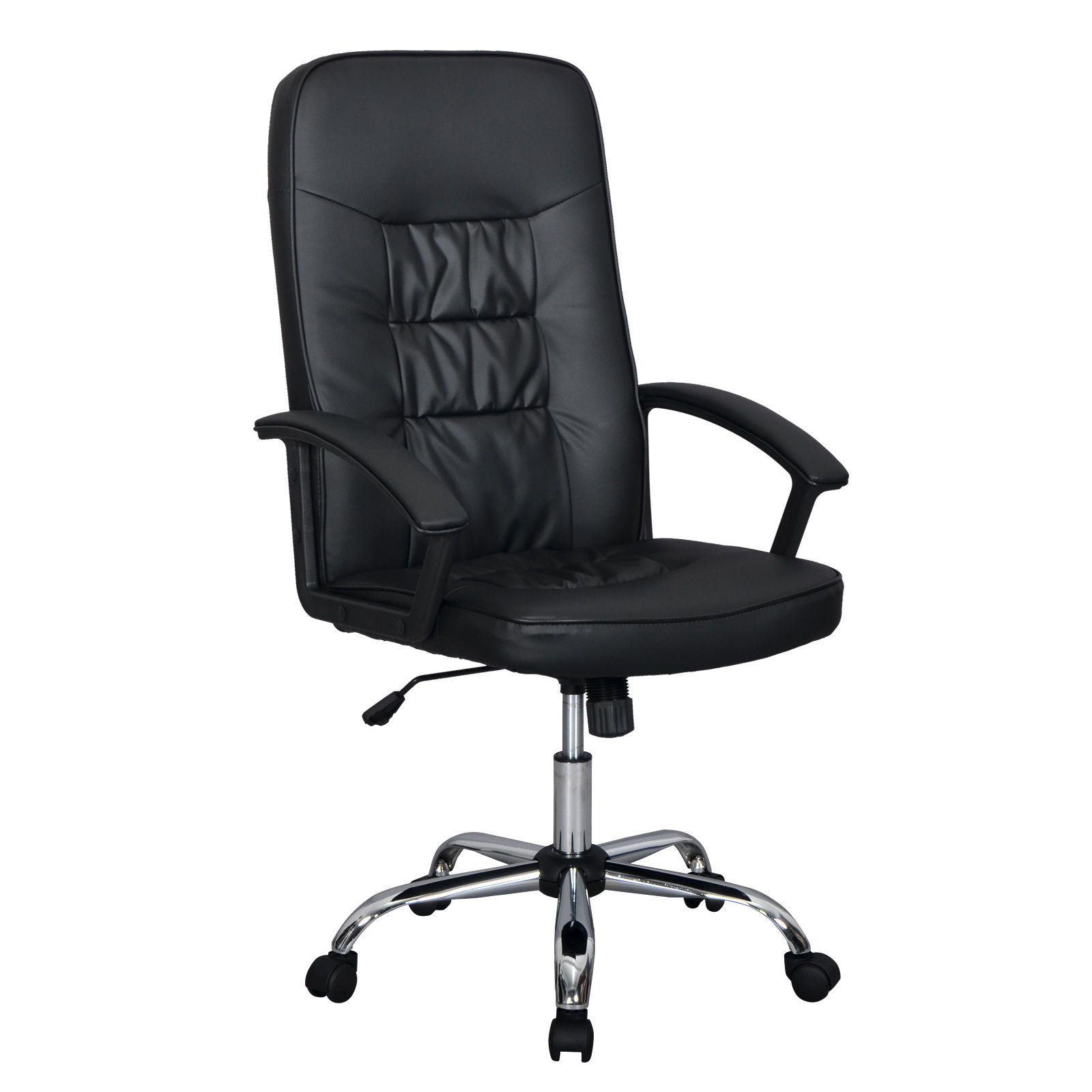 Black High Back Executive Office PU Leather Ergonomic Chair