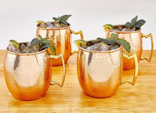 $19.95 Old Dutch 16-Ounce Solid Copper Moscow Mule Mug, Set of 4