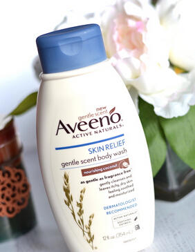 $5.53 Aveeno Skin Relief Nourishing Body Wash, Coconut, 12 Fluid Ounce