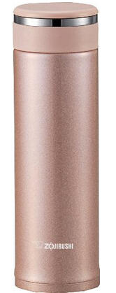 $26.44 Zojirushi SM-JTE46PX Stainless Steel Travel Mug with Tea Leaf Filter, 16-Ounce/0.46-Liter, Pink Champagne