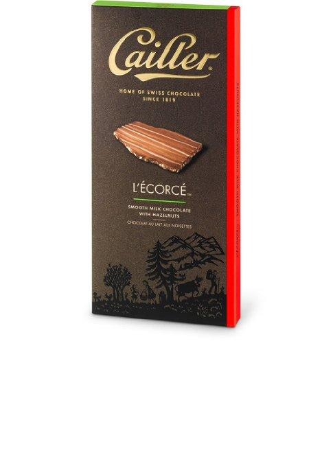 CAILLER L'Ecorce, Milk Chocolate with Hazelnut Pieces, 3.5 ounce bars (Pack of 3)