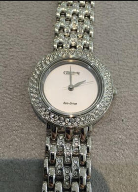 Citizen Silhouette Eco-Drive Swarovski Crystal Ladies Watch EM0260-67A