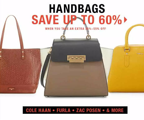 Up to 60% Off Handbags in Fashion Dash