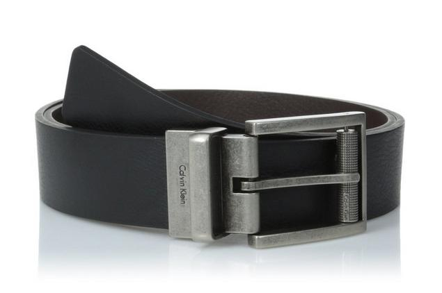 Calvin Klein Men's Reversible Harness Roller Buckle Belt