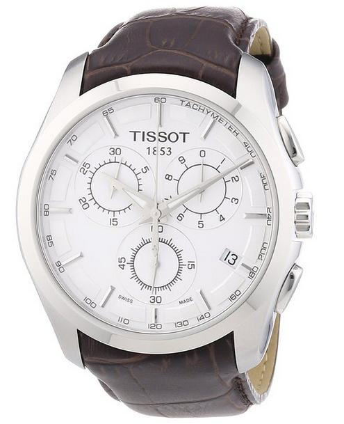 $309 Tissot Men's T0356171603100 Couturier Silver Stainless Steel Chronograph Watch