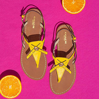 Up to 65% Off Coach Women's Sandals @ 6PM.com