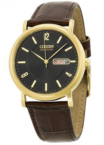 Citizen Men's BM8242-08E Eco-Drive Gold-Tone Stainless Steel Watch