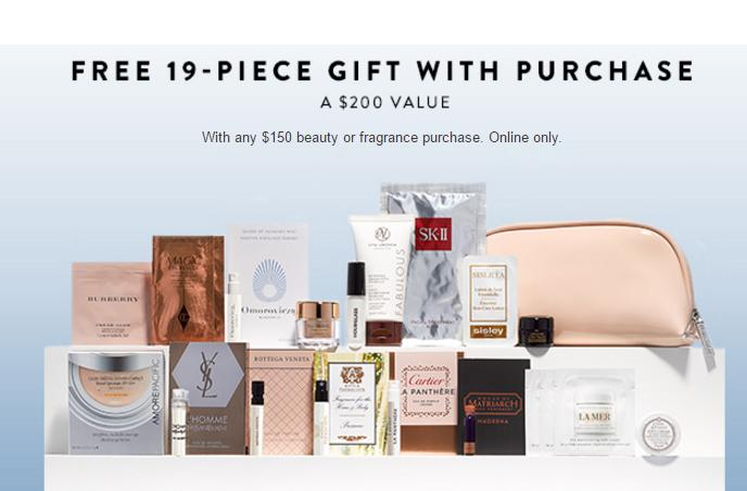 Free 19-pc Gift Bag with $150 Beauty Fragrance purchase @ Nordstrom