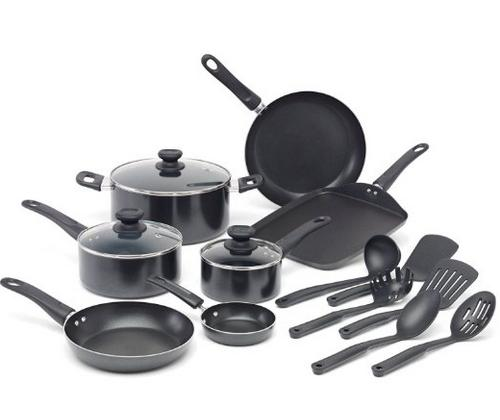 WearEver A787SG Complete Nonstick Oven Safe Easy to Clean Cookware Set, 16-Piece
