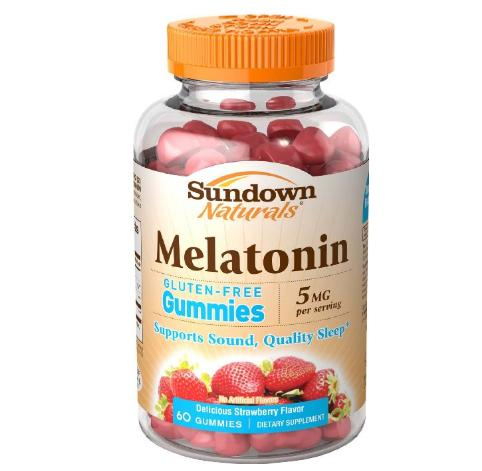$1.09 Sundown Naturals Melatonin 5 mg, 60 Gummies