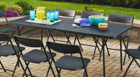 $31.86 Mainstays 6' Fold-in-Half Table, Black