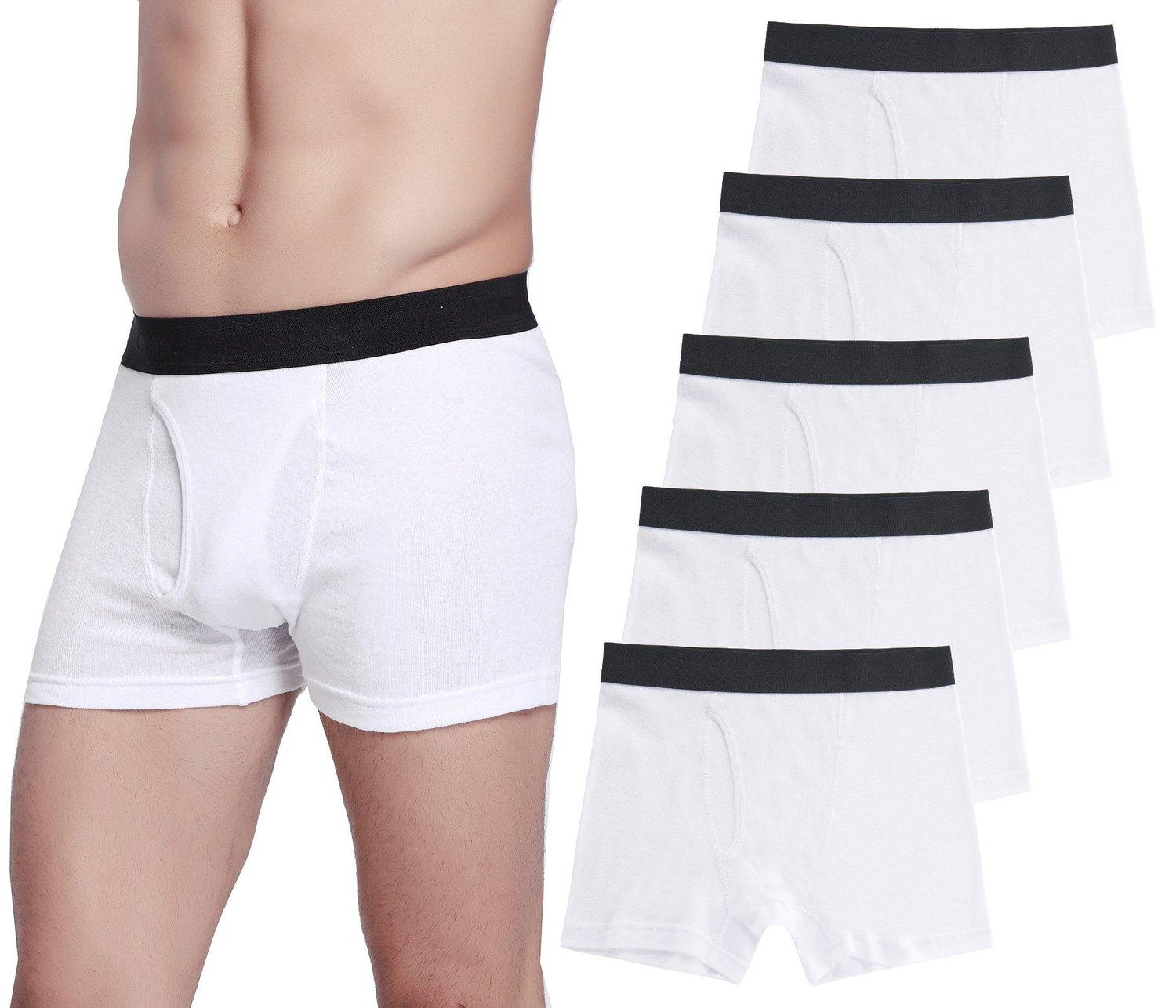 Buy 1 Get 1 Free CYZ Men's 5-Pack Comfortable Cotton Boxer Brief
