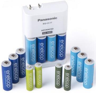 $28.02 Panasonic K-KJ17MZ104A Eneloop Power Pack for 10AA, 4AAA Colored Cells Advanced Battery Charger