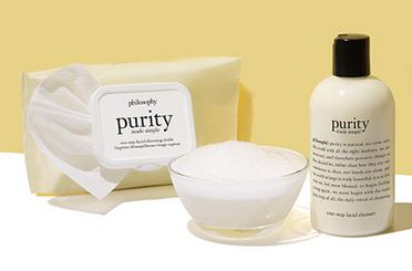Free Purity Cleanser and Purity Wipes With Any $40 Order @ philosophy