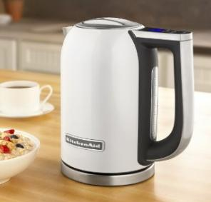 KitchenAid KEK1722WH 1.7-Liter Electric Kettle with LED Display