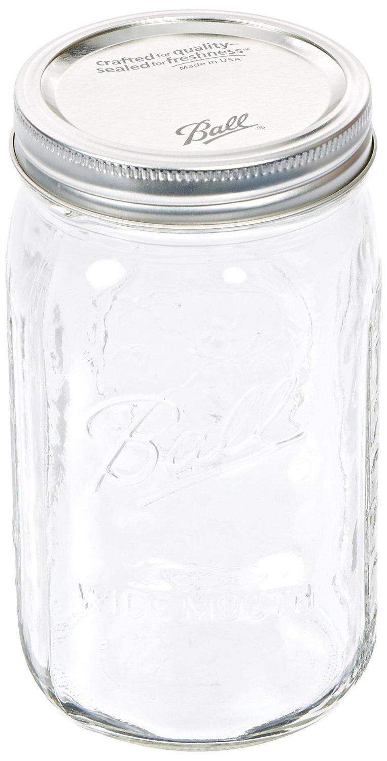 Jarden  Wide Mouth Ball Jar, 32-Ounce, Case of 12