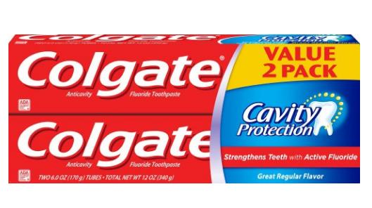 $2.81 Colgate Cavity Protection Toothpaste, 6 Ounce, 2 Count