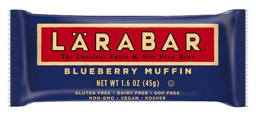 LÄRABAR, Gluten Free Fruit & Nut Food Bar, Non-GMO, Blueberry Muffin, 1.6 oz Bars, 5 Count