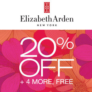 Dealmoon Exclusive! 20% Off + 4 Free Ultra-Luxe Samples  + Free Shipping with ANY $80+ Purchase @ Elizabeth Arden