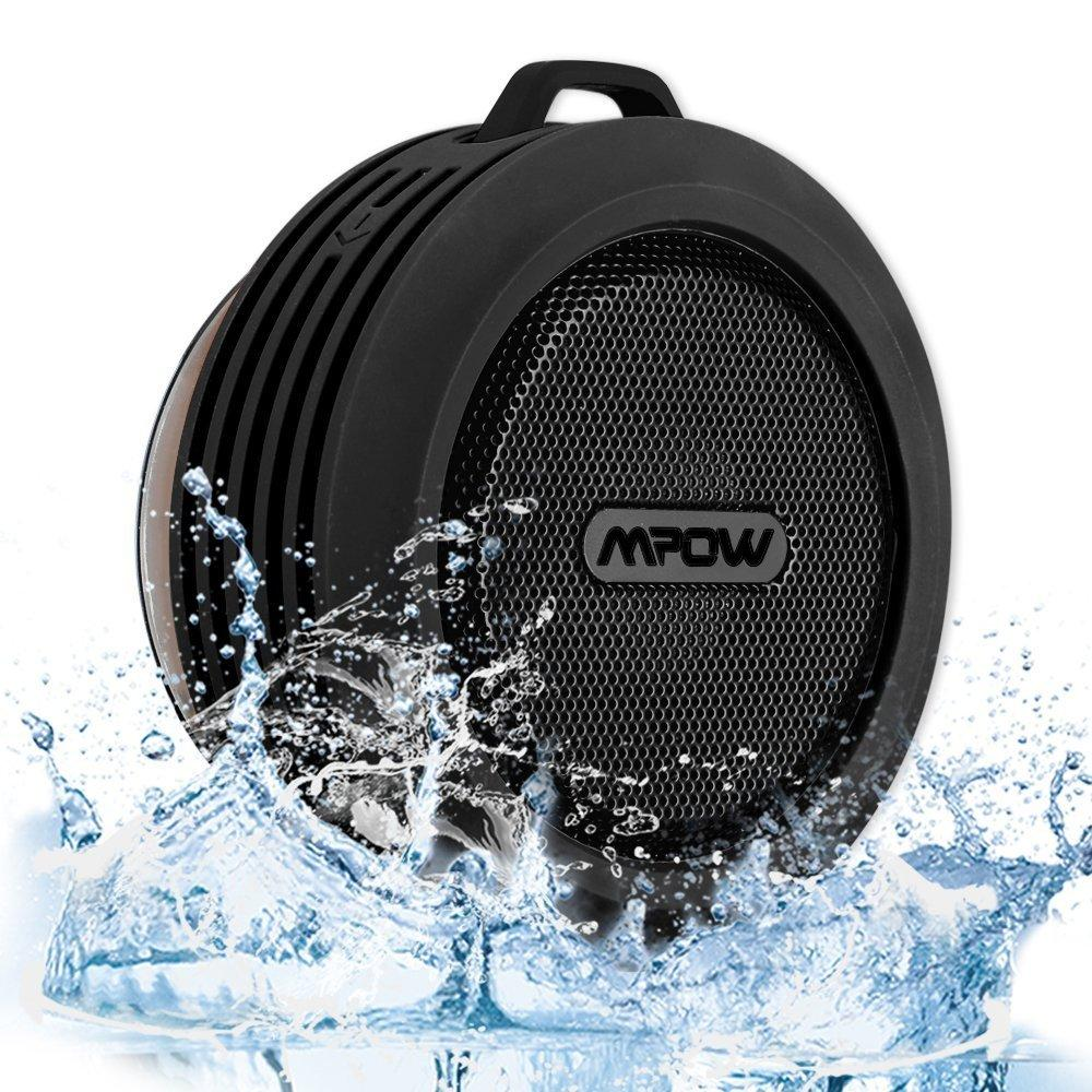 Mpow Buckler Portable Wireless Bluetooth Waterproof Speaker with Suction Cup for Shower/Outdoor