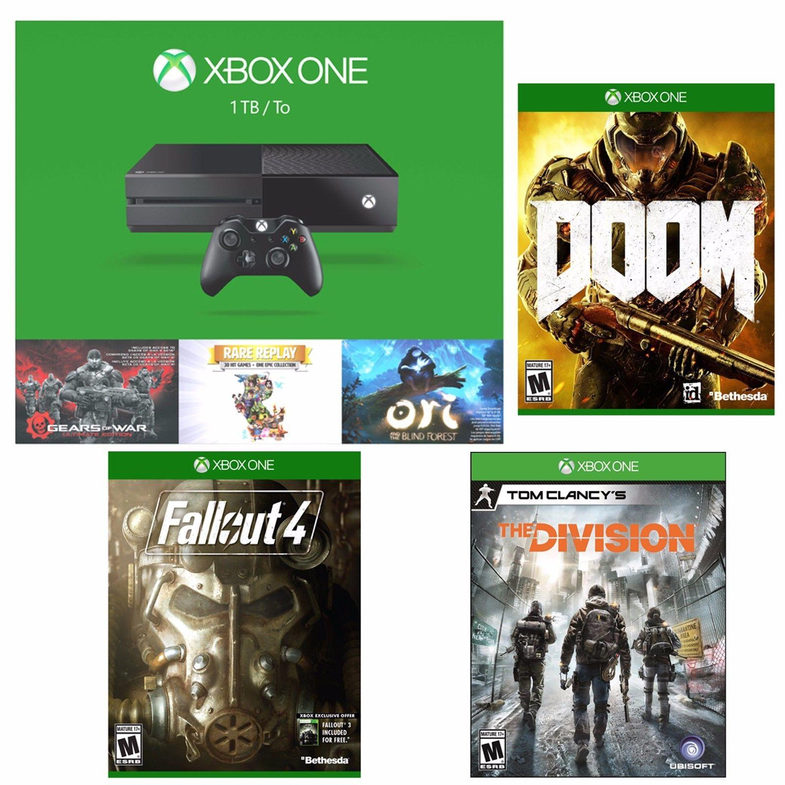 $399 Xbox One 1TB Holiday Bundle + Doom + Fallout 4 + Tom Clancy's The Division