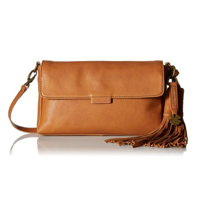 $61.35 Lucky Brand Jordan Leather Clutch Cross Body Bag