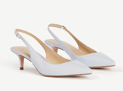 Zosia Leather Slingback Heels @ Ann Taylor