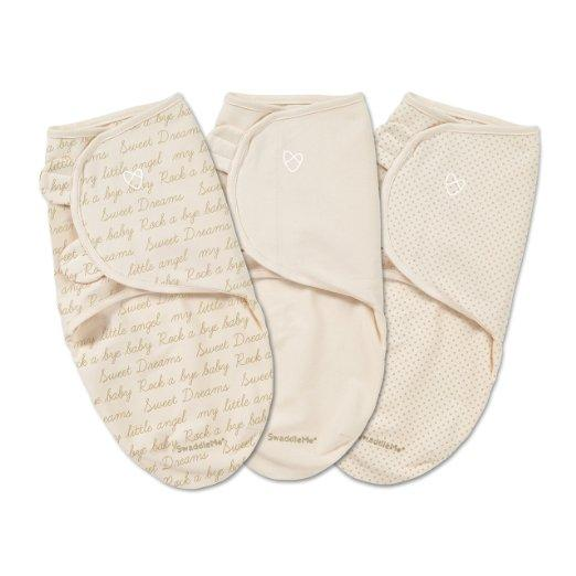 SwaddleMe Original Swaddle 3-PK,  Ivory Cursive (SM) @ Amazon