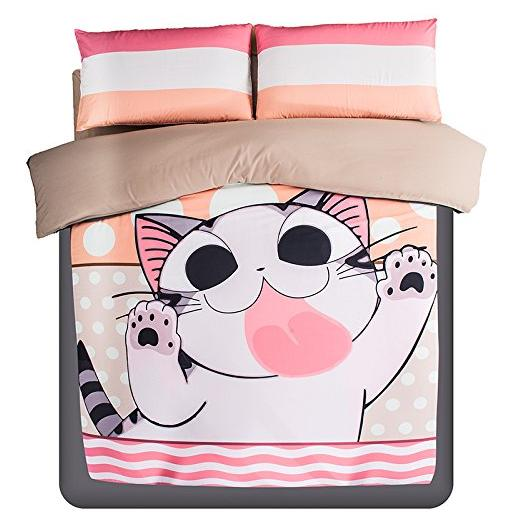 From $9.99 Cute Anime Bed Sheets@Amazon