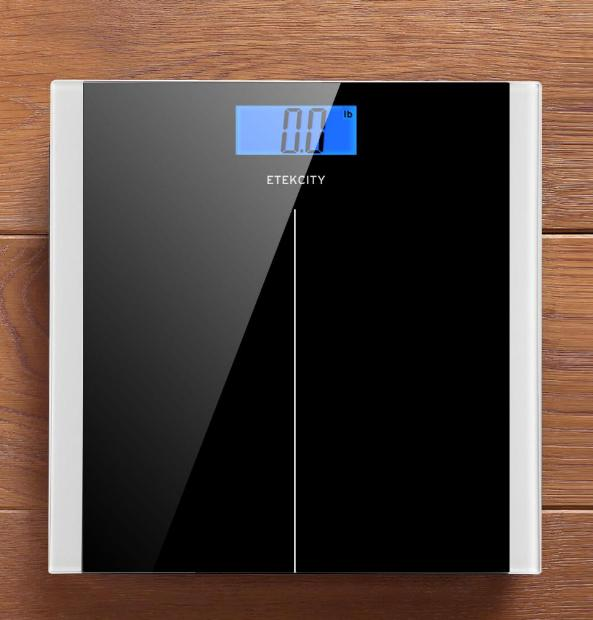 Etekcity Digital Body Weight Bathroom Scale, 400lb/180kg, Black