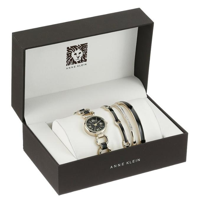 Lowest price! $61.99 Anne Klein Women's Swarovski Crystal Watch Set