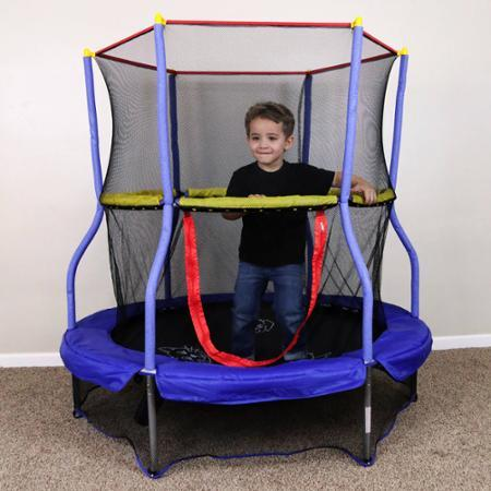 """$59 Skywalker Bounce-N-Learn 55"""" Round Trampolines with Safety Enclosure"""