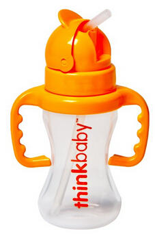 $11.87 Thinkbaby Thinkster Straw Bottle, 9 Ounce, Natural/Orange