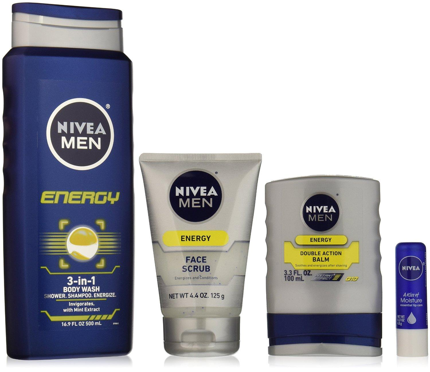 $9 NIVEA Men 4 Piece Energy Collection Gift Set