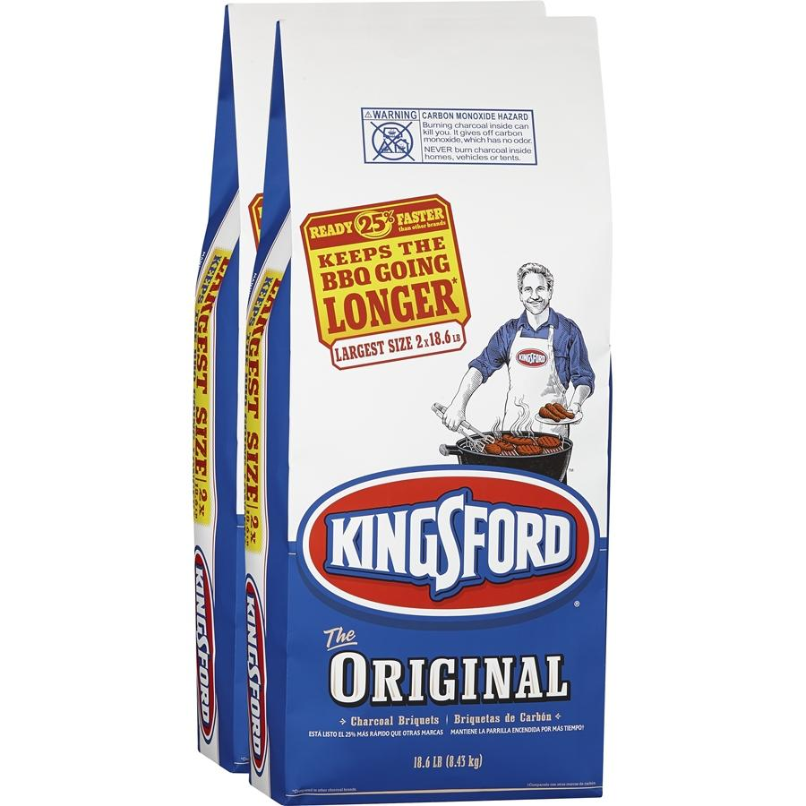Kingsford Charcoal Briquets, 18.6 lbs,2 pack+ 32oz Lighter Fluid